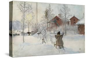 The Yard and Wash-House, from 'A Home' series, c.1895 by Carl Larsson