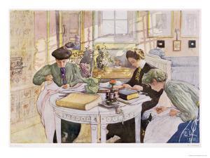 "Trousseau, Published in ""Lasst Licht Hinin,"" (""Let in More Light"") 1910 by Carl Larsson"
