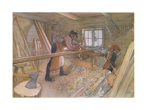 Uncle Johan in the Farm Workshop by Carl Larsson