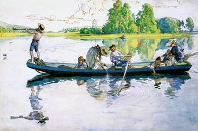 Viking Raid in Dalarna, 1900 by Carl Larsson