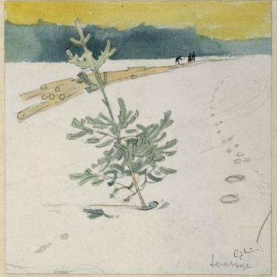 Winter Landscape by Carl Larsson