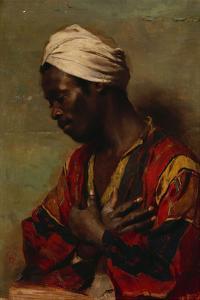 An Arab in Meditation by Carl Ludwig Ferdinand Messmann