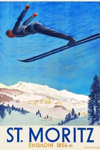 Engadin -- St. Moritz by Carl Moos