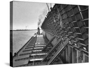 A Lake Freighter Loading Up Ore by Carl Mydans