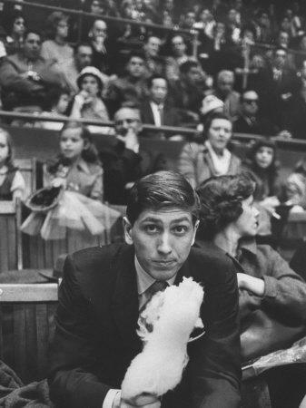 American Chess Champion Robert J. Fischer Eating Cotton Candy