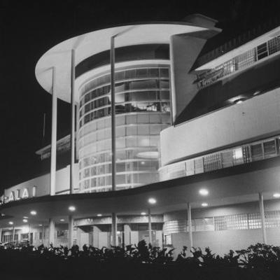 An Exterior View of the Jai-Alai in Manila