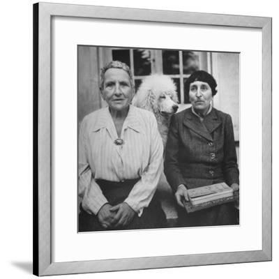 Author Gertrude Stein Sitting with Alice B. Toklas at a Villa