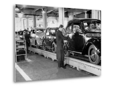 Cars on the Assembly Line at the Fiat Plant