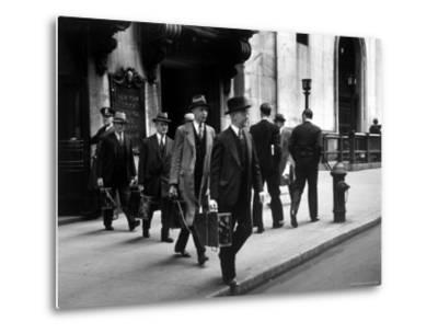 Chain Gang of New York Stock Exchange Carrying Traded Securities to Banks and Brokerage Houses