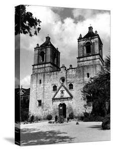 Exterior of the Mission Conception Near San Antonio, also known as the Alamo by Carl Mydans