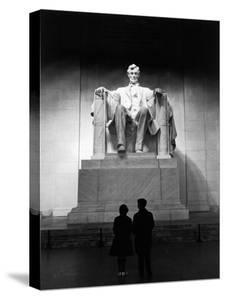 Interior of the Lincoln Memorial by Carl Mydans