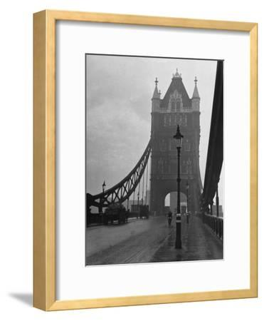 Light Traffic across Tower Bridge on an Overcast Day