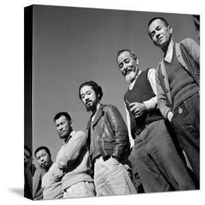 Men at Japanese Internment Camp, Tule Lake, Ca by Carl Mydans