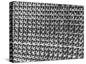 Rows of Wine Bottles by Carl Mydans