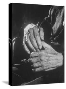 Shot of Hands Belonging to an Old Man by Carl Mydans