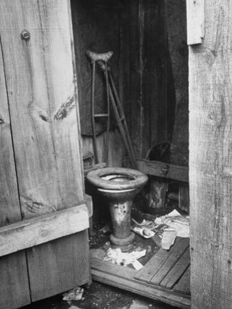 Toilet in Outhouse in Slum Area a Few Blocks from the Capital in Washington, Dc