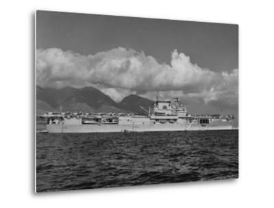 """US Navy Aircraft Carrier """"Enterprise"""" During Maneuvers in Hawaii"""