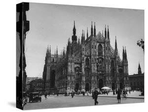 View of a Cathedral in the City of Milan by Carl Mydans