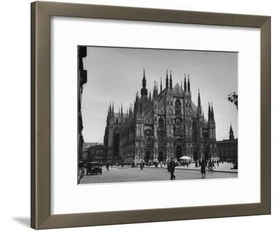 View of a Cathedral in the City of Milan