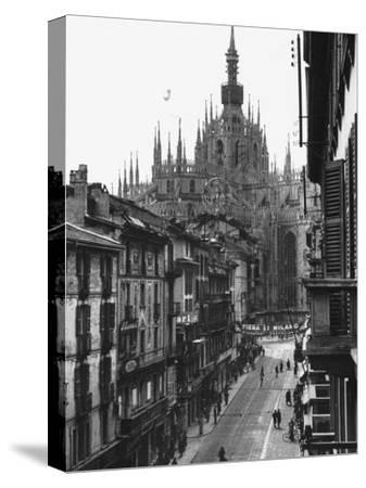View of the Landscape of Milan with the Cathedral Dominating the Background