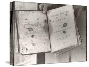 """View Showing """"Judge"""" Roy Bean's Law Books by Carl Mydans"""