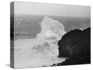 Waves Breaking on Garden Gate Beach by Carl Mydans