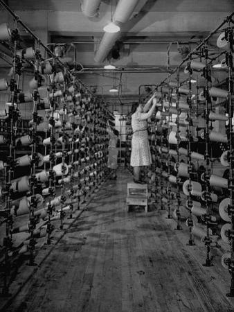Women Working in the Textile Mill by Carl Mydans