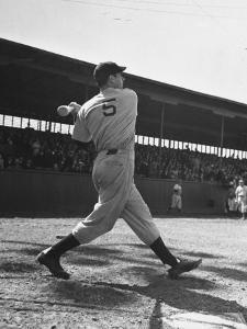 Yankee's Joe Dimaggio at Bat by Carl Mydans