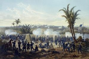 Battle of Veracruz, General Scott's Troops Attacking and Capturing City, 1847 by Carl Nebel