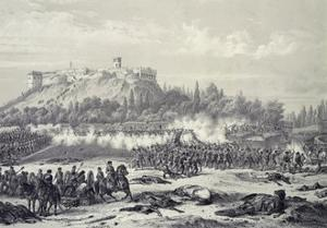 Storming of Chapultepec Castle by American Troops, September 14, 1847 by Carl Nebel