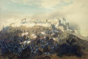 The Storming of Chapultepec Castle by American Troops, September 14, 1847 by Carl Nebel