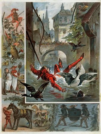 Illustration for Till Eulenspiegel Story by Richard Strauss circa 1860-80