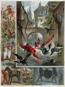 Illustration for Till Eulenspiegel Story by Richard Strauss circa 1860-80 by Carl Offterdinger