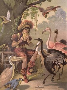 Papageno the Bird-Catcher, from 'The Magic Flute' by Wolfgang Amadeus Mozart (1756-91) by Carl Offterdinger