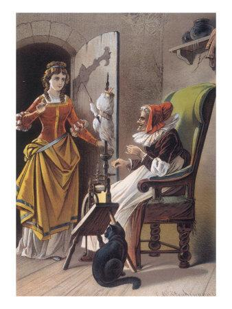 Sleeping Beauty: Aged 15, The Princess Meets an Old Woman Spinning