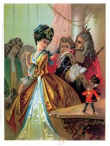 """The Old King and the Nutcracker Prince, Illustration from """"The Nutcracker"""" by E.T.A. Hoffman 1883 by Carl Offterdinger"""