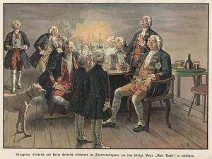Crown Prince Frederick and Prince Henry of Prussia Wishing their Father, the King, Goodnight by Carl Rochling