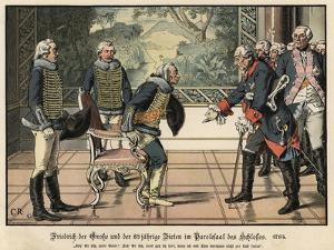 Frederick the Great and the 85 Year Old General Zieten by Carl Rochling
