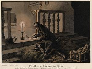Frederick the Great of Prussia on the Night of the Victory at the Battle of Torgau by Carl Rochling