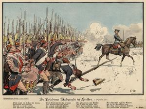 Prussian Infantry at the Battle of Leuthen by Carl Rochling