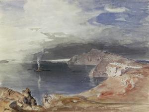 Santorini, 1845 by Carl Rottmann