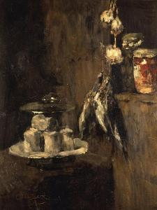 Still Life with Partridges and Cheese, after 1884 by Carl Schuch