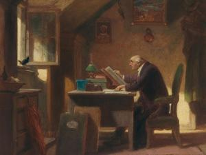 A Visit, about 1850 by Carl Spitzweg