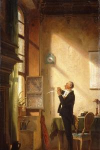A Writer Sharpening His Quill; Der Schreiber, Eine Feder Schneidend by Carl Spitzweg
