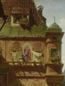 Art and Science, about 1880. Detail by Carl Spitzweg