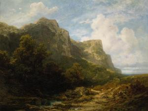 Bavarian Mountain Landscape, about 1870 by Carl Spitzweg