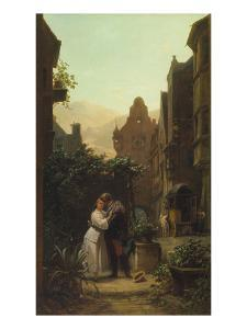 Der Abschied, um 1855 by Carl Spitzweg