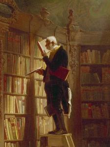 Der Buecherwurm (Detail), um 1850 by Carl Spitzweg