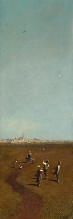Flying Kites, Ca 1880-1885