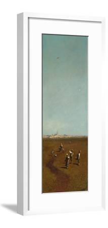 Flying Kites, Ca 1880-1885